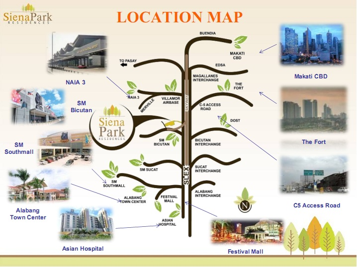 Siena Park Residences Location Map