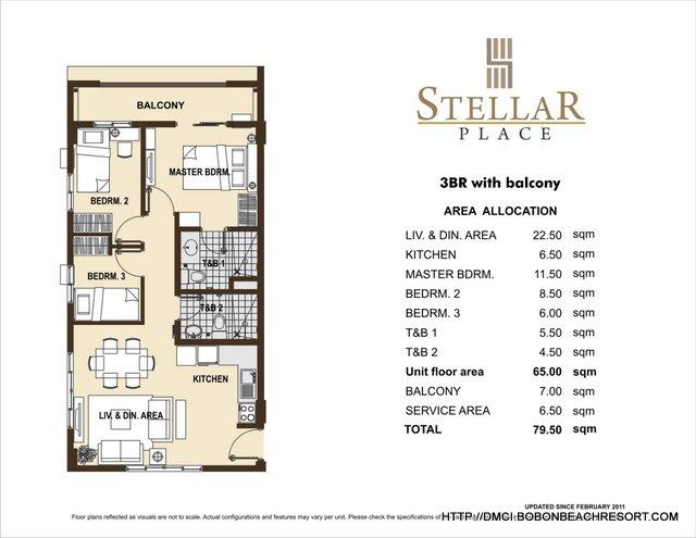 Stellar Place 3 Bedroom Layout