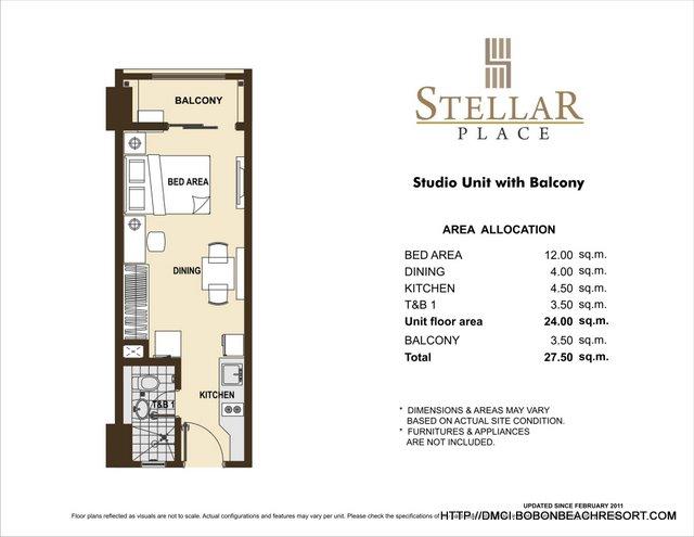 Stellar Place Studio Layout
