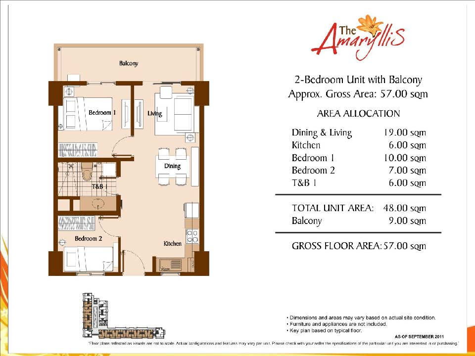 Amaryllis 2 Bedroom