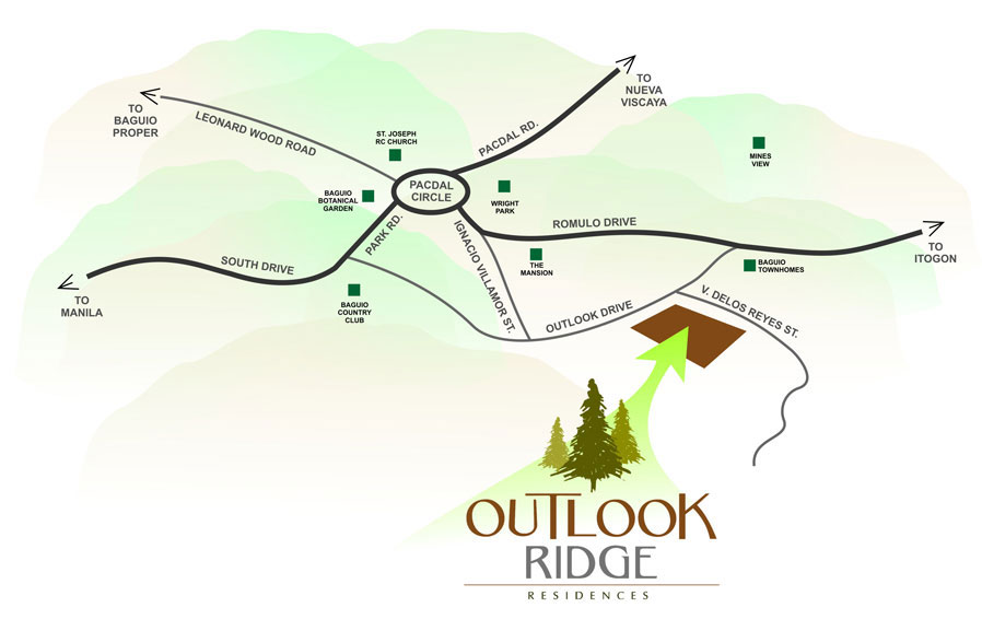 Outlook Ridge Residences Location