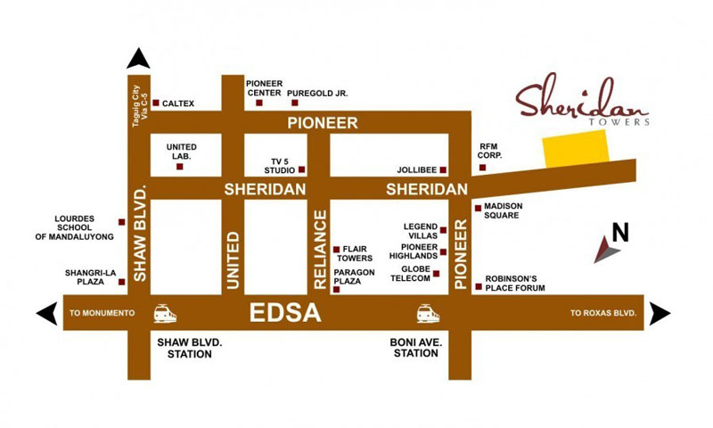 Sheridan Towers Location