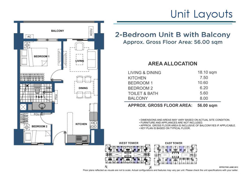 Lumiere Residences 2 Bedroom B with Balcony