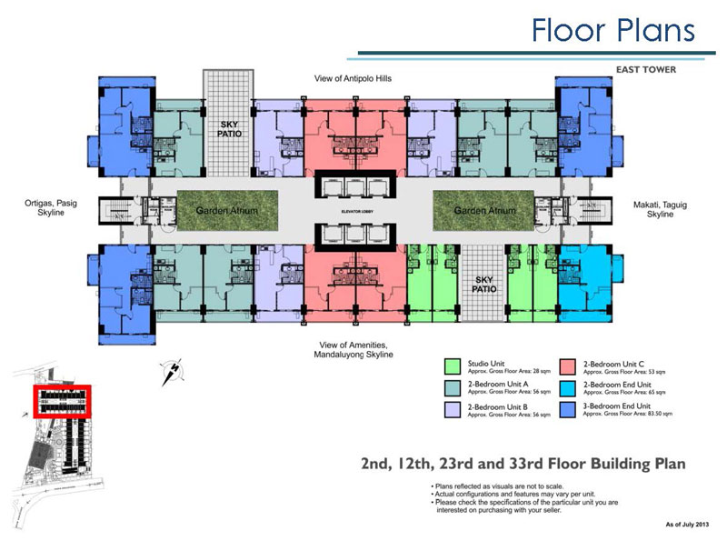 Lumiere East Building Layout