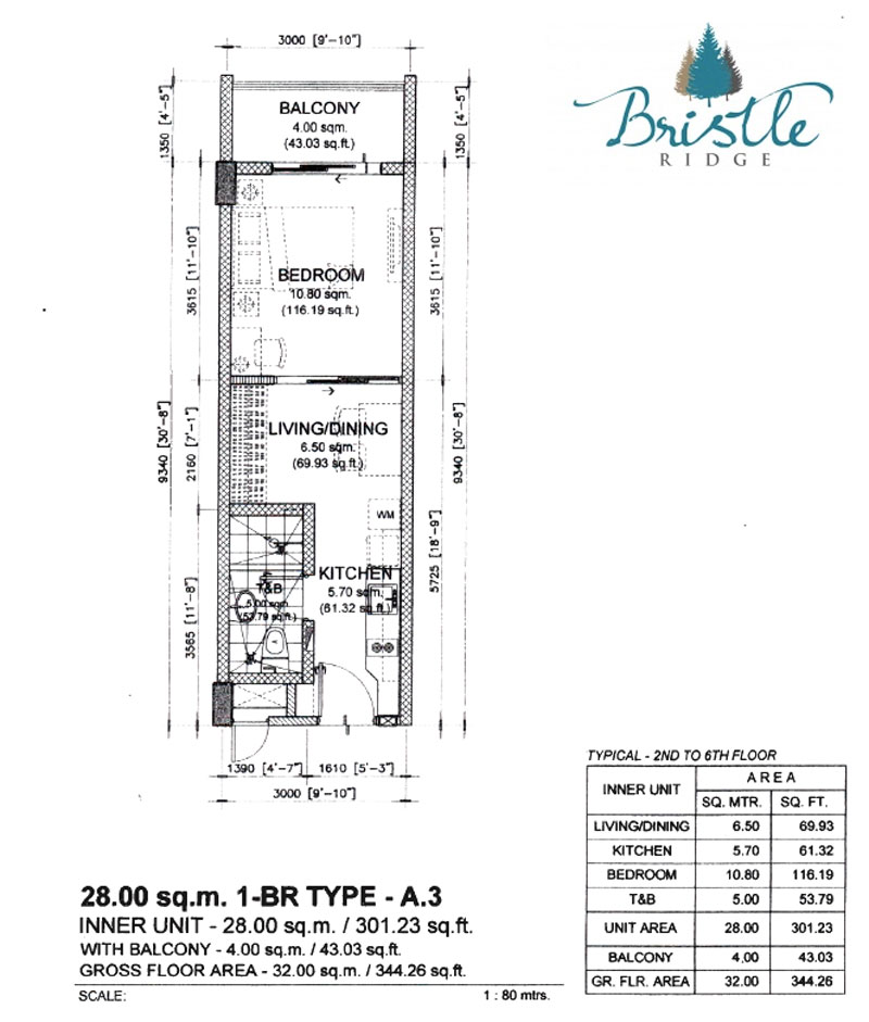 Bristle Ridge Baguio 1 Bedroom Layout