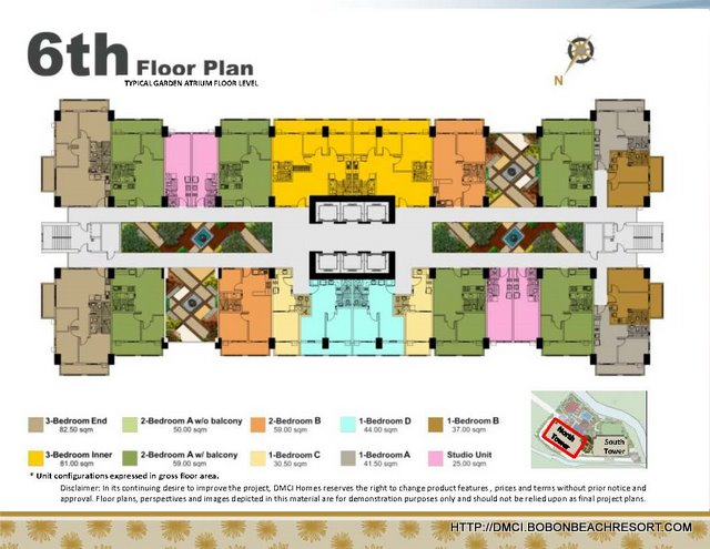 Zinnia Towers Building Floorplan