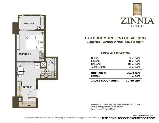 Zinnia Towers 1 Bedroom with Balcony