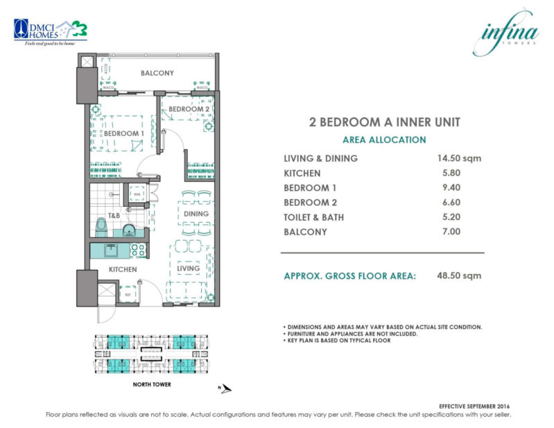 2 Bedroom A (3.4M)
